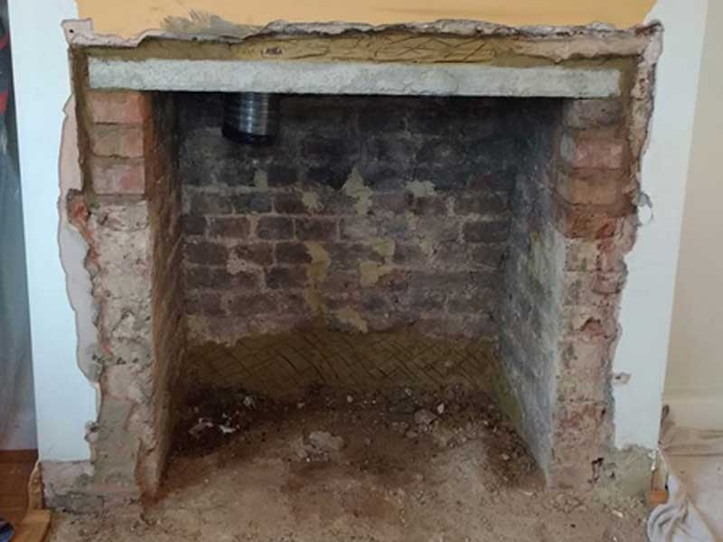 Multi fuel stove installation